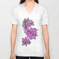 doodle V-neck T-shirts featuring Doodle by Milonade