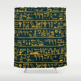 Egyptian hieroglyphs Shower Curtain