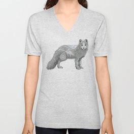 Arctic Fox Unisex V-Neck