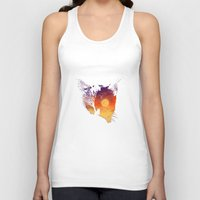 meow Tank Tops featuring Meow by barmalisiRTB