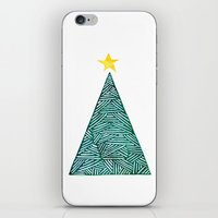 christmas tree iPhone & iPod Skins featuring Christmas tree by Bridget Davidson