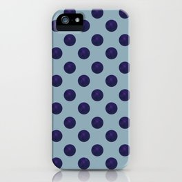 Circle World Deep Space Blue iPhone Case