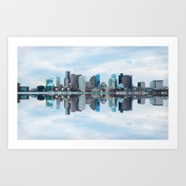 Boston reflection Art Print