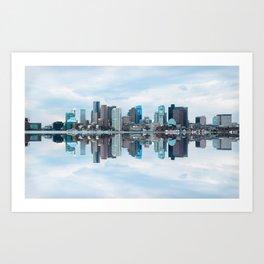 Boston reflection Art Print