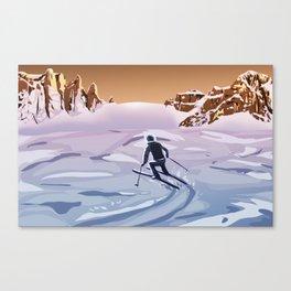 Skiing on Mars Canvas Print