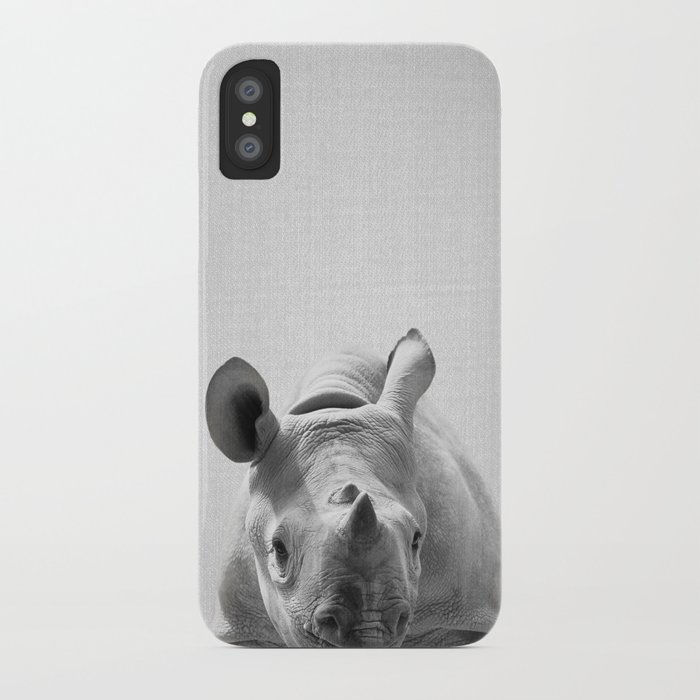 huge discount d904f 7b227 Baby Rhino - Black & White iPhone Case by galdesign