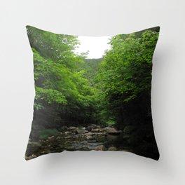 Watercolor Landscape, Cape Breton 25, Nova Scotia, Canada Throw Pillow