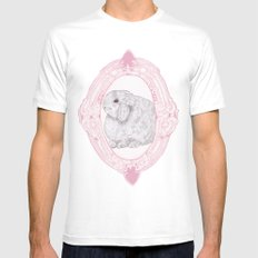 Cameo Bunny White MEDIUM Mens Fitted Tee