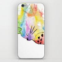 rainbow iPhone & iPod Skins featuring My Rainbow Totoro by scoobtoobins