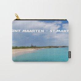 Tropical sandy beach of Sint Maarten - St. Martin Carry-All Pouch