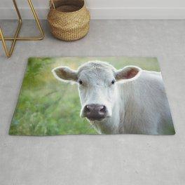 White Cow Rug