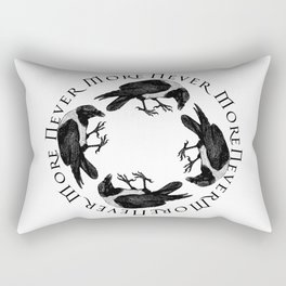 Raven Circle Never More Rectangular Pillow