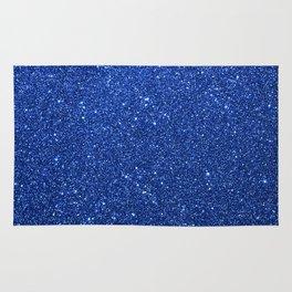 Cobalt Blue Glitter Rug