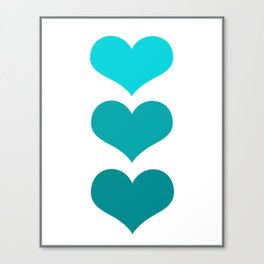 Hearts Trio Canvas Print