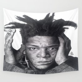 Jean-Michel Basquiat Drawing Wall Tapestry