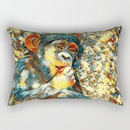 AnimalArt_Chimpanzee_20170605_by_JAMColorsSpecial Rectangular Pillow
