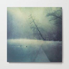 weeping light - river in morning fog Metal Print