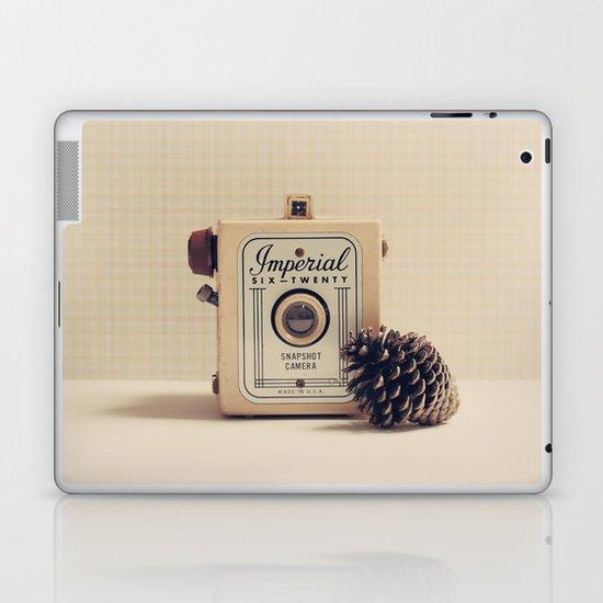Retro Camera and Pine Cone Laptop & iPad Skin