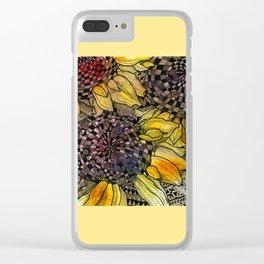 Ukrainian Sunflowers Clear iPhone Case