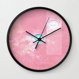 Pink Concrete Wall Clock