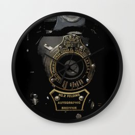 VINTAGE AUTOGRAPHIC BROWNIE FOLDING CAMERA Wall Clock