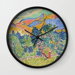 Good Mountain by Henri Matisse Wall Clock