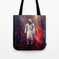 interstellar Tote Bags featuring Interstellar by Tony Vazquez