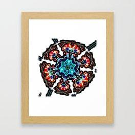 Star Capacitor Framed Art Print