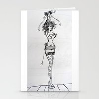 burlesque Stationery Cards featuring Burlesque by Frances Roughton