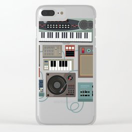 Love Synthesizer Love Drum Machine Gift Design Idea design Clear iPhone Case