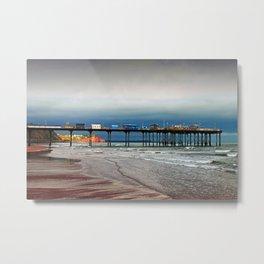 Teignmouth Pier And Beach Devon England UK Metal Print
