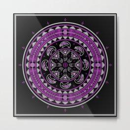 Bear Spirit (Purple) Metal Print