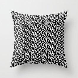 Black and White Polygons Throw Pillow