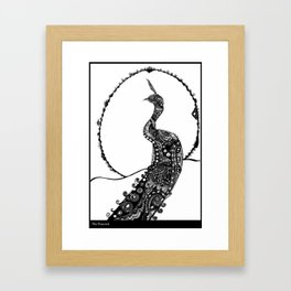 The Peacock Framed Art Print