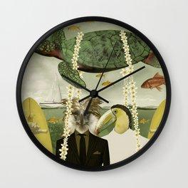 Surf trippin Wall Clock