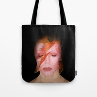 bowie Tote Bags featuring bowie by Taranta Babu