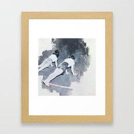 Push-ups Framed Art Print