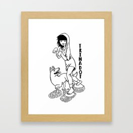 Trinadot Bea and Dog Framed Art Print