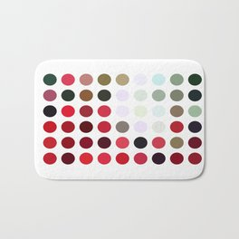 Mixed color Poinsettias 1 Dots Bath Mat