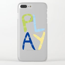 Play Nersery art Clear iPhone Case