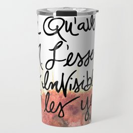 The Little Prince Quote, fox Travel Mug