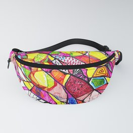 Colorful Map Fanny Pack