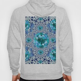 Aquamarine Gems Optical Pattern March Birthstone Art Hoody