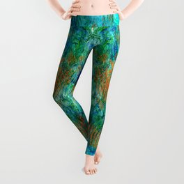 Copper beneath the waves Leggings