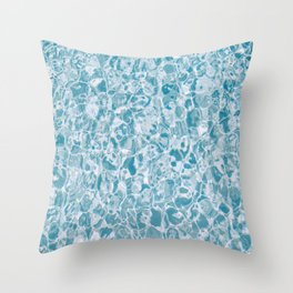 Clear Blue Water Throw Pillow