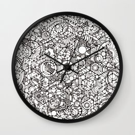 Phosphenes Schematic Wall Clock