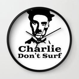 Charlie Chaplin Don't Surf Wall Clock