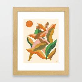 Leaves are turning Framed Art Print