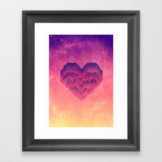Interstellar Heart III Framed Art Print