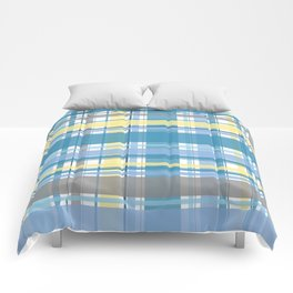 Blue and Yellow Tartan Comforters